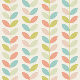 retro flower pattern background