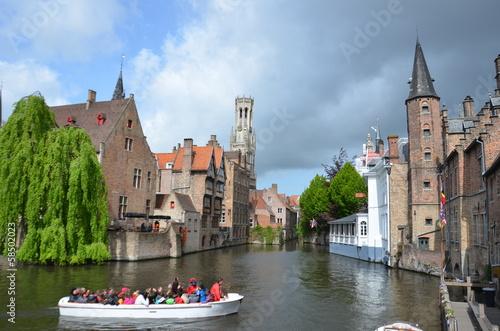 Poster Brugge Bruges en Belgique.