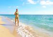 Happy woman on Miami beach.