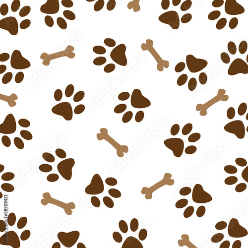 Photo  Brown Dog Paw Pattern