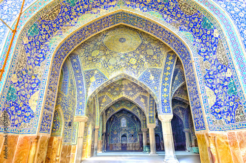 Carta da parati Imam Mosque viewed from entrance in Isfahan, Iran