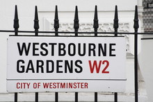 Westbourne Gardens A Famous Street Sign In London