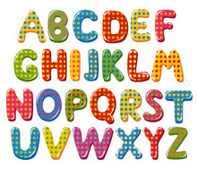 Colorful Alphabet Letters With...