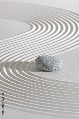 Deurstickers Stenen in het Zand Japan ZEN Garten