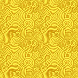 Seamless Yellow Swirls