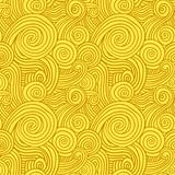 Seamless Yellow Swirls