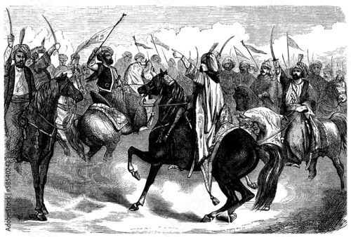 Fotografiet Arabian Warriors - end 18th century