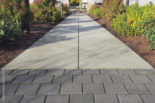 Fotografie, Obraz  Commercial Outdoor Sidewalk Landscaping