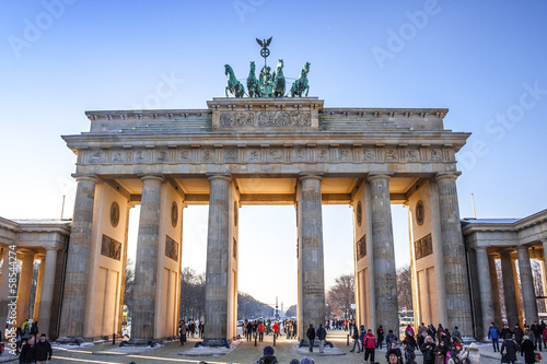 Photo  Brandenburg Gate in Berlin - Germany