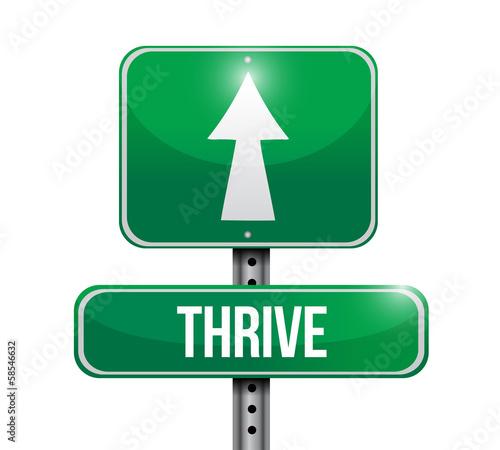 Thrive Road Sign Illustration Design Buy This Stock Illustration