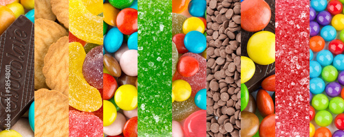 Deurstickers Snoepjes Colorful sweets backgrounds