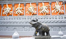 Statue Of An Elephant Outside ...