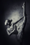 Lovely ballerina, black and white photo - 58555828