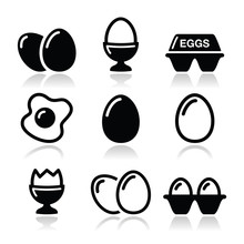 Egg, Fried Egg, Egg Box Icons ...