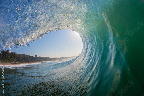 Spoed Fotobehang Water Hollow Wave Inside