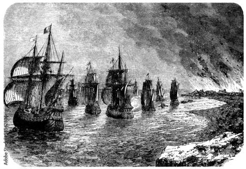 Photo War Ships - 17th century