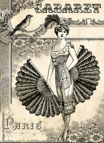Fotografie, Obraz  Cabaret Burlesque