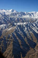 Mountain range, Leh, Ladakh, India