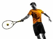 Man Tennis Player Portrait Sil...