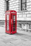 English call box in London - 58585015