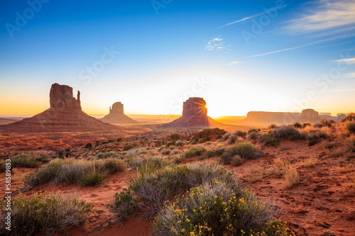 Monument Valley sunrise, AZ, USA