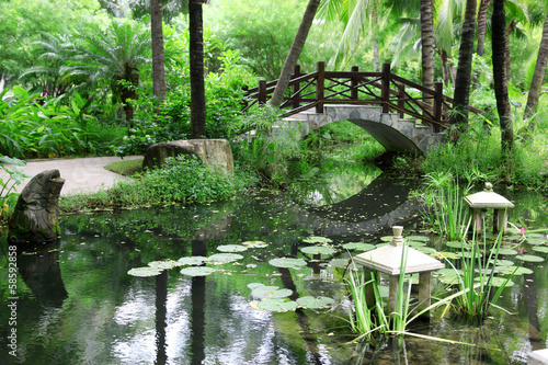 Photo  classic chinese garden, south China