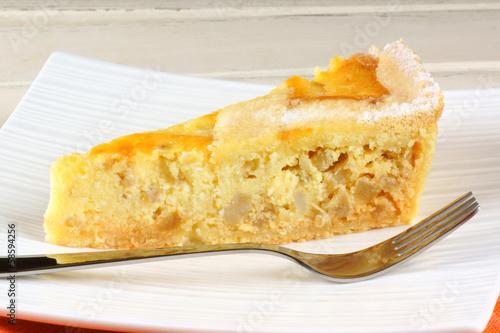 Fototapeta  Slice of Neapolitan Pastiera tart