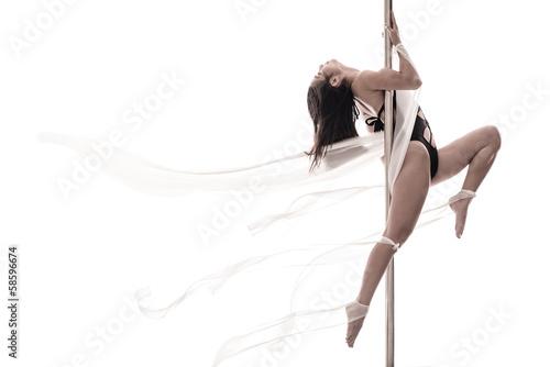 Pole dance woman - fototapety na wymiar