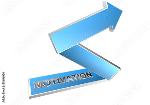 motivation fleche bleue 3D
