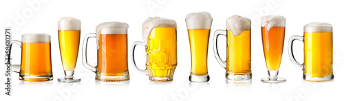 Deurstickers Alcohol beer glass