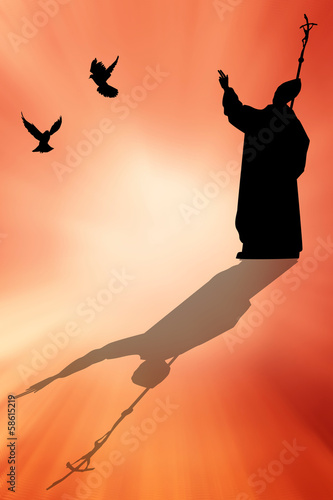 Photo Pope silhouette