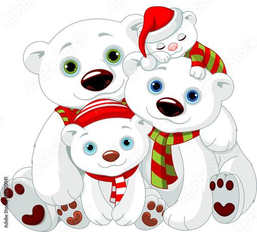 wielka-rodzina-niedzwiedzi-polarnych-na-boze-narodzenie