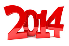 2014 In Shiny Red Numbers