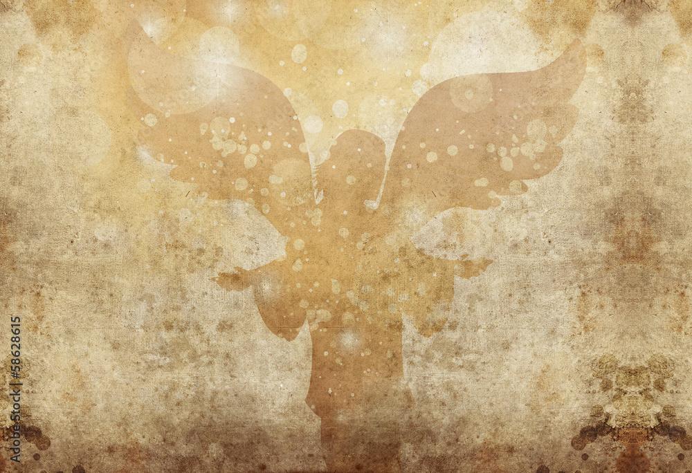 Foto-Leinwand ohne Rahmen - celebration angel grunge