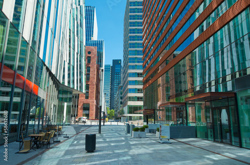 business district Tablou Canvas