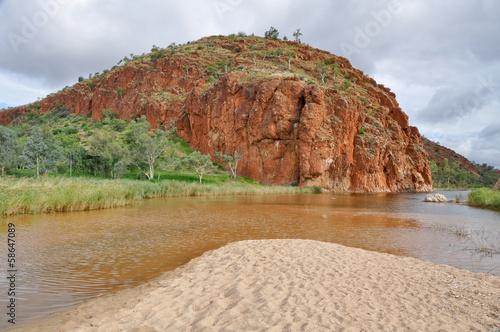 Foto op Canvas Australië Glen Helen Gorge, West Macdonnell ranges (Australia)