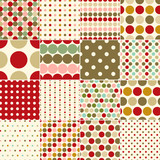 seamless christmas polka dots pattern