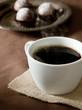 coffee with chocolate truffles