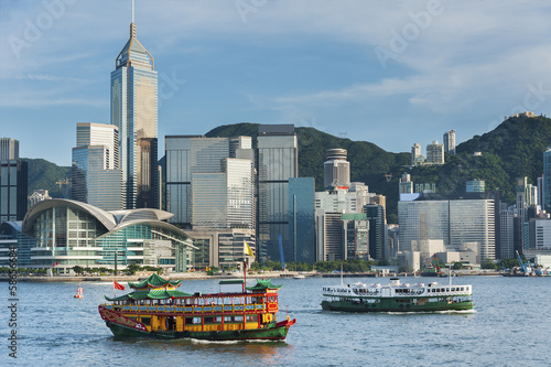 Spoed Foto op Canvas Hong-Kong Victoria Harbor of Hong Kong