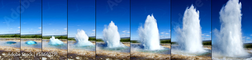 Fotografia, Obraz Strokkur Geyser eruption in sequence