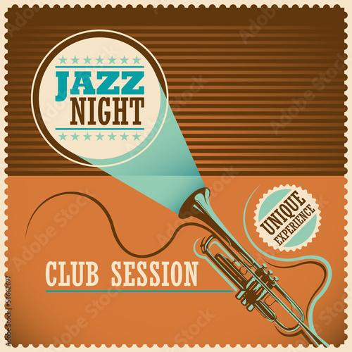 Retro jazz poster. Poster