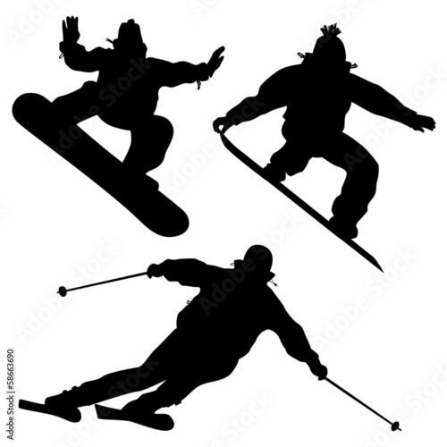 kolekcja-snowboardzisci-i-narciarz