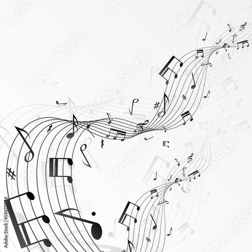Fototapeta premium Muzyka zauważa tło