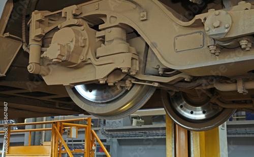 atelier de réparation ferroviaire Canvas Print