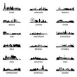 City ~ Stadt ~ Skyline ~ Horizont ~ Silhouette ~ Megaset