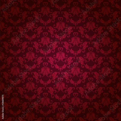 Fotografía  damask seamless floral pattern
