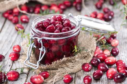 Fotografia  Canned Cranberries