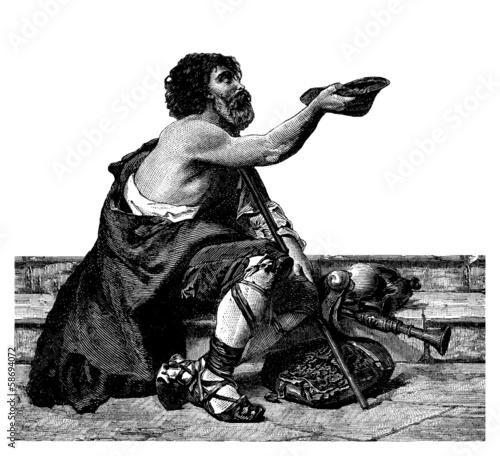Beggar - Mendiant - Bettler Wallpaper Mural