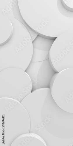 Naklejki na drzwi Abstrakcyjne białe krążki