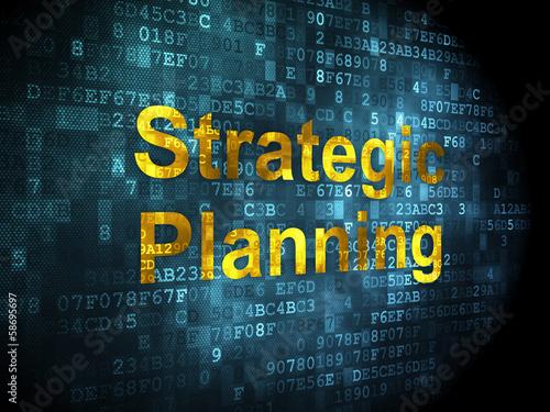 Fotografía  Finance concept: Strategic Planning on digital background